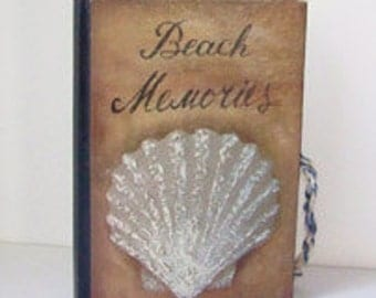 Vintage Beach Memories Hard Cover Lined Journal / Hardback Book