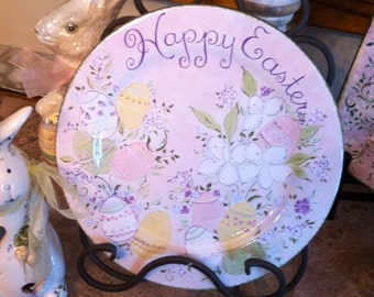 Hand Painted Easter Plate