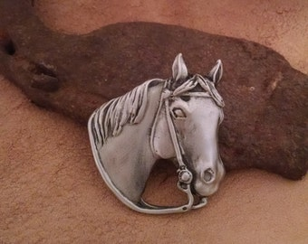 Western Horse Brooch | Horse Pin | Cowpony Pin | Gift for Horse Lover