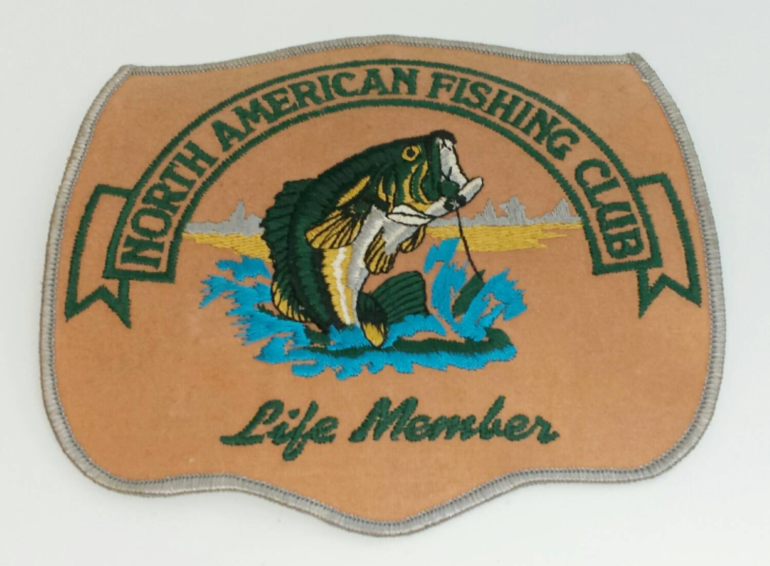 north american fishing club life member embroidered patch