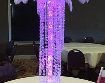 10  Table top chandelier centerpiece, swirl cascade table top chandelier, Wedding Centerpiece.