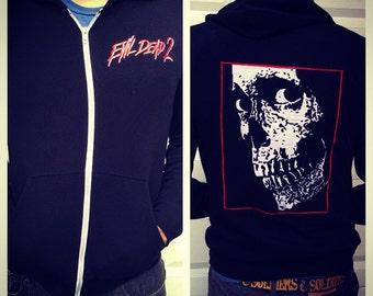 The Evil Dead 2 zip up hoodie Ash Bruce Campbell