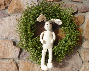 Easter Wreath, Spring Wreath, Spring Decoration, Bunny Wreath, Pepper Grass Wreath with Bunny, Summer Wreath, Easter Wreath, Bunny Wreath