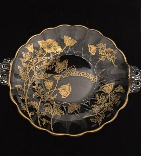 Th Anniversary Glass Platter