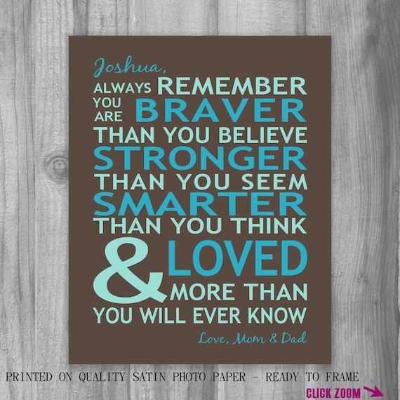 Always Remember You Are Loved: Graduation Gift Son Personalized Gift Always Remember You Are
