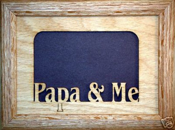 Papa And Me Picture Frame 5x7 By Stansgifts On Etsy