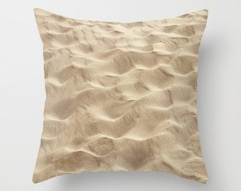 "IN STOCK GERMANY Throw Pillow Cover Sand Dunes 6""x16"" inch Photography 100% Spun Polyester beach art modern abstract photo"