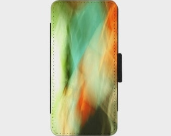 Abstract Art II Smartphone Flip Case for iPhone Samsung Sony LG Nexus HTC Photography abstract blue green orange art turquoise black