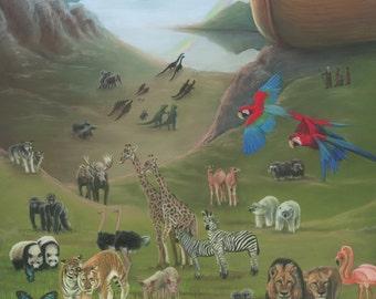 Noah's Ark Painting - Print