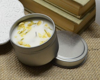Fig and Winter Whites Scented 100% Soy Candle 4oz Tin