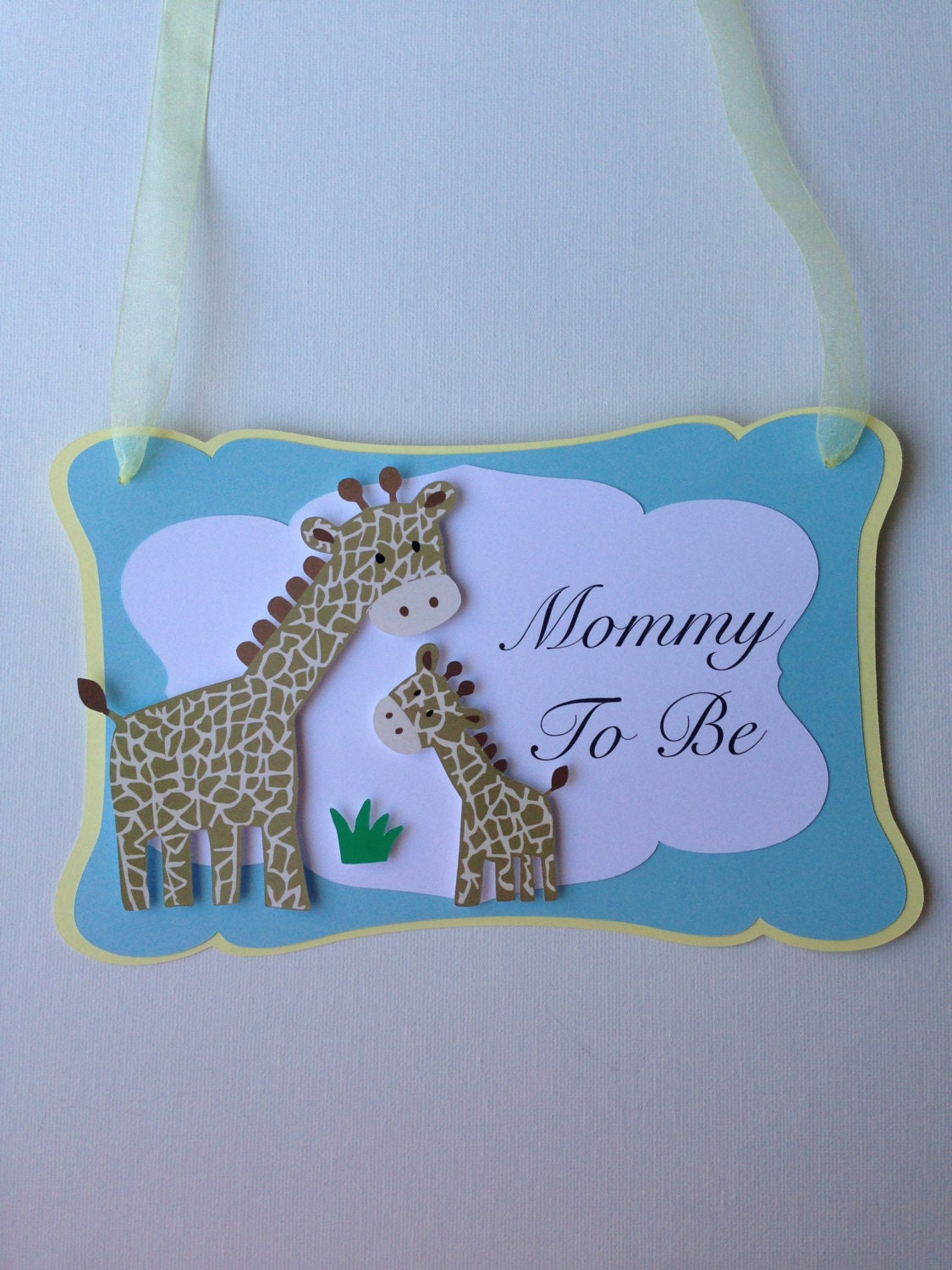 baby giraffe baby shower mommy to be chair sign