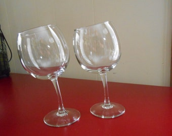 Wonky Wine Glasses