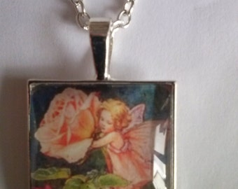 fairy necklace picture pendant