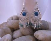 Elegant Chandelier Earrings - Teal