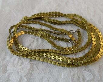 "Raw brass serpentine chain lengths,4mm,8.5"",4pcs-CHN14"