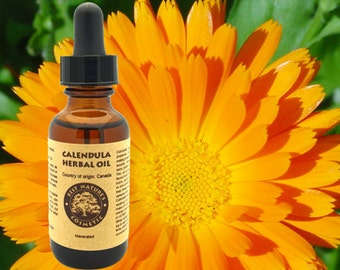 Calendula Herbal Oil. Most beneficial for dry and damaged skin, skin inflammations, rashes, diaper irritations, and other.