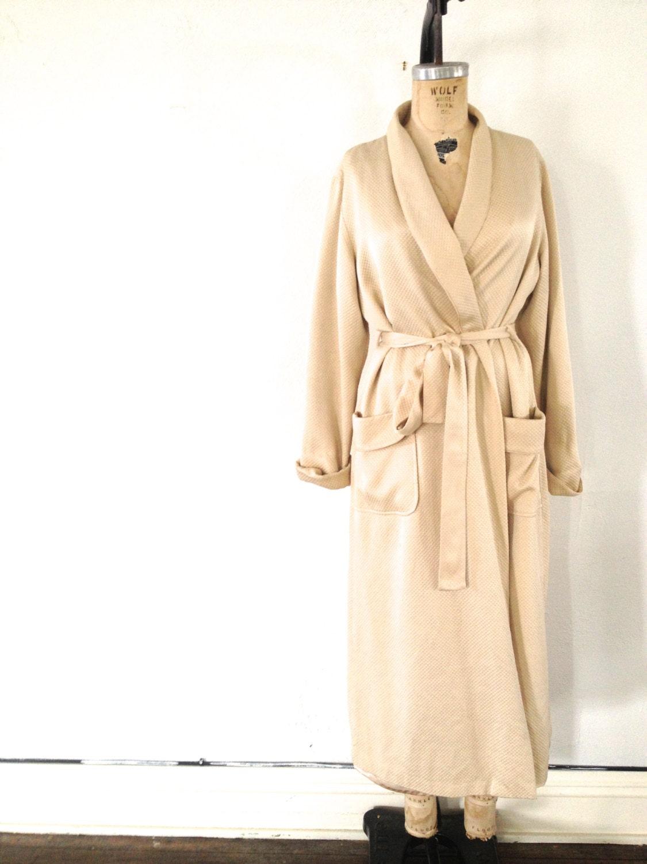 Nude Silk Robe // Loungewear // Pjs Pajamas // by
