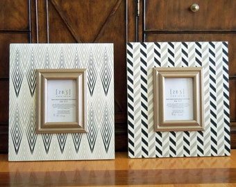 Chevron And Moroccan Themed Distressed Frames Collage Of 4