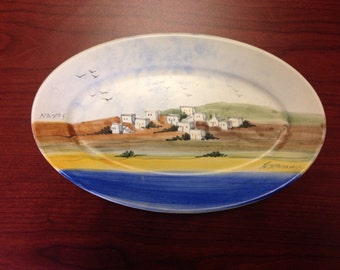 Naxos Hand Painted Wall Decor (plate)