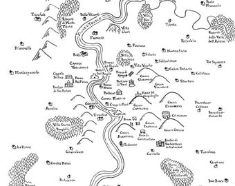 Fantasy map of Rome