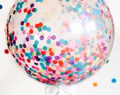 "Giant Confetti Balloon 36"" / Weddings / Birthday Party / Baby Shower / Bridal Shower / Tassel Tail"