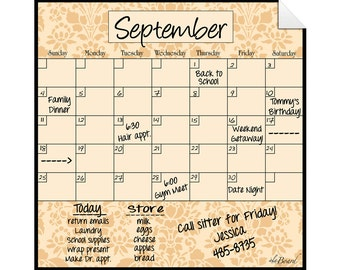 Monthly Calendar Decal, Monthly Calendar, Calendar Decal