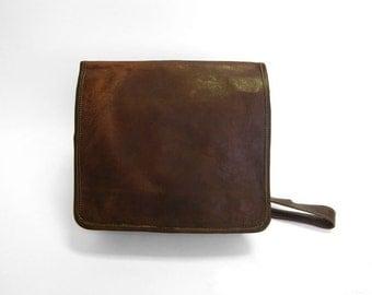 Handmade Leather Vintage Style Bag - Satchel Bag - Messenger - iPad Bag - Buckle