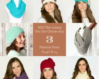 You Choose Any 3 Crochet Patterns