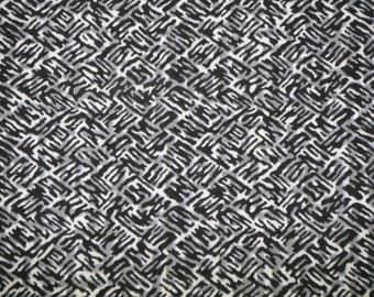 Indigo grey abstract Vintage Japanese cotton kimono fabric