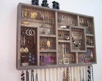Bedroom decor jewelry holder organizer for Bathroom jewelry holder