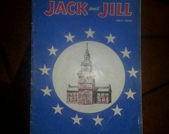 Vintage Jack and Jill July,1948 Printed in USA