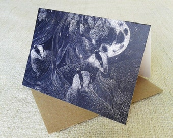 Badgers Greeting Card