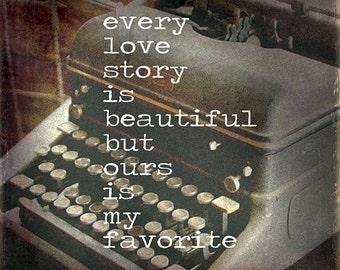 MA1038 - Typewriter... Every Love Story