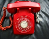 Vintage 1978 CALL the PRESIDENT RED Dial Desk Telephone in Good Working Condition
