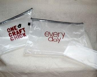 Customized* Mesh clear zipper pouch