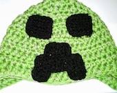 Hand Crocheted Minecraft Creeper Hat
