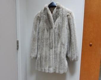 Faux Fur Tan Jacket Size 7