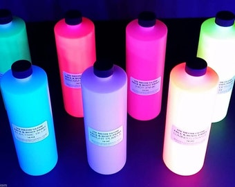 UV Body Paint 8 oz Fluorescent black light glow paint  for parties
