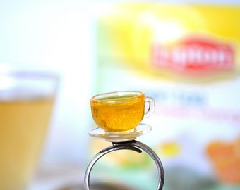 Lemon tea ring,Cup of tea ring,Miniature food ring