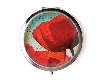 Poppys pocket mirror & Organza pouch