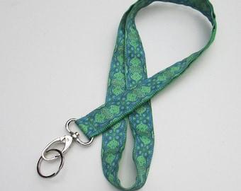 Kaleidoscope Green Lanyard Keychains, Cool Lanyards for Keys, Id Badge Holder Necklace Lanyards, Cute Lanyards for Badges