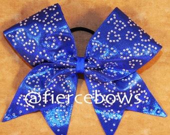 Cheetah Rhinestone Cheer Bow