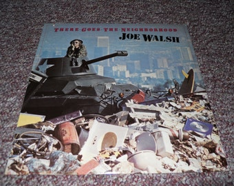 Joe Walsh There Goes the Neighborhood Vinyl Record LP Cut out Notch