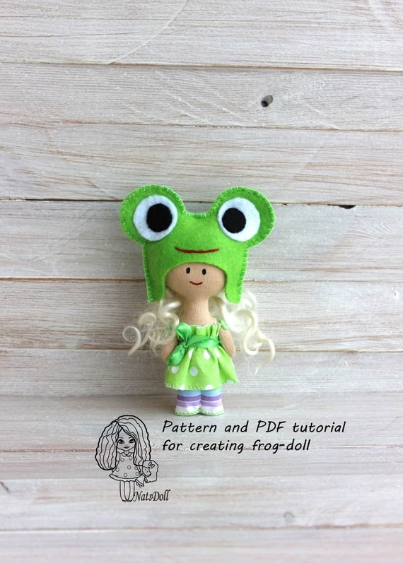 pattern and pdf tutorial for creating frog dolldoll sewing. Black Bedroom Furniture Sets. Home Design Ideas