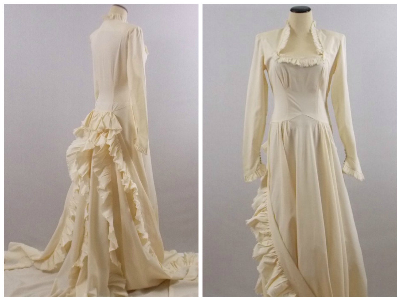 Edwardian Wedding Dress 1900s Antique Wedding Gown Vintage