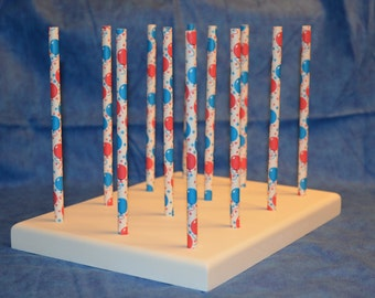 Handcrafted 12 Hole Paper Straw Cake Pop Stand Holder Pops