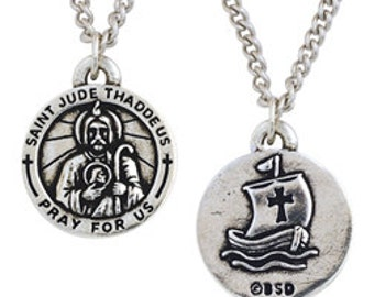 St. Jude Medal Necklace