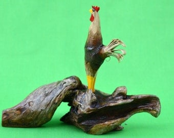 Rooster, Wood Rooster, Folk Art Rooster