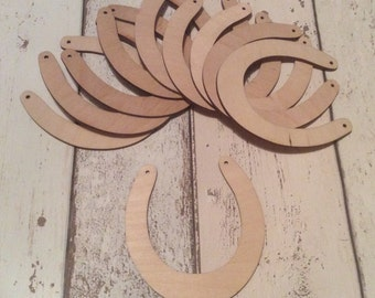 pack of 10 unpainted laser cut  horseshoes perfect for wedding crafting
