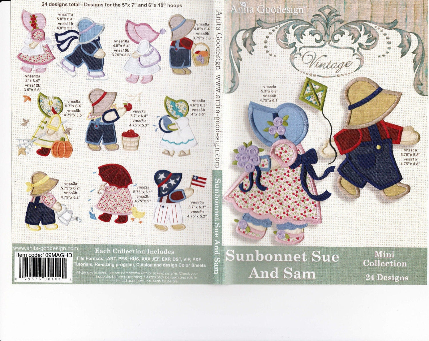 Sunbonnet Sue And Sam Embroidery Designs